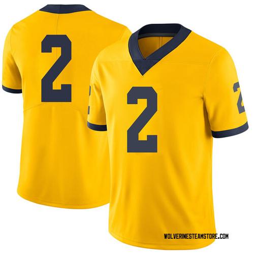 Youth Jordan Poole Michigan Wolverines Limited Brand Jordan Maize Football College Jersey
