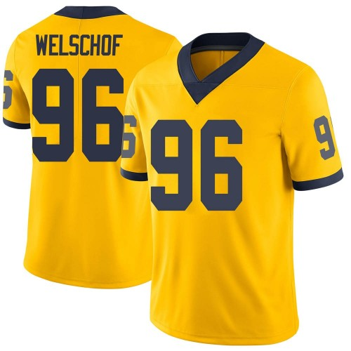 Youth Julius Welschof Michigan Wolverines Limited Brand Jordan Maize Football College Jersey