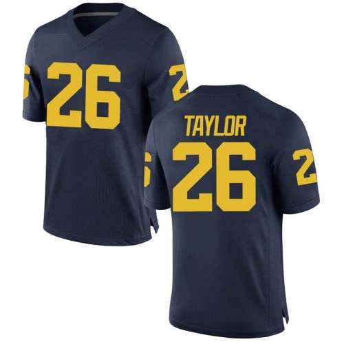 Youth Kurt Taylor Michigan Wolverines Game Navy Brand Jordan Football College Jersey