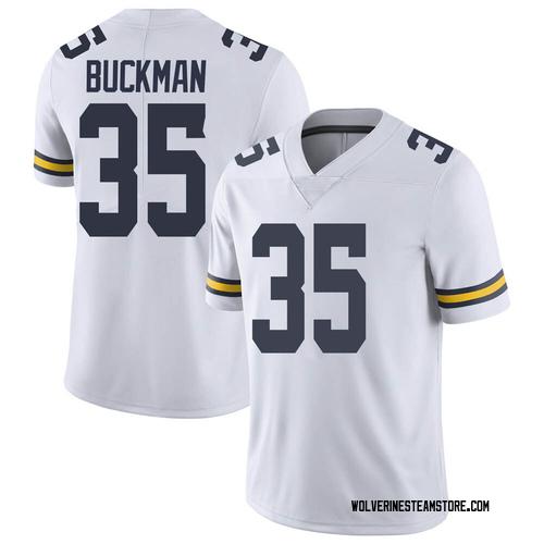 Youth Luke Buckman Michigan Wolverines Limited White Brand Jordan Football College Jersey