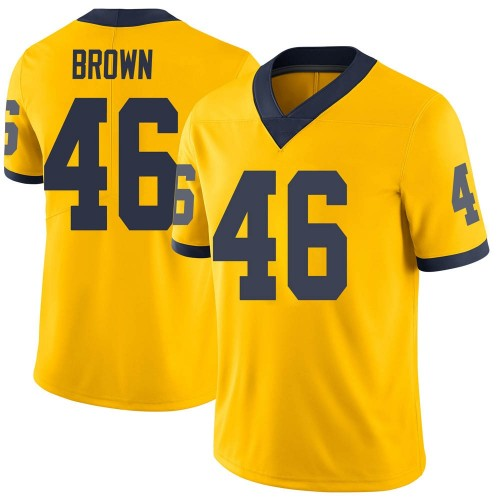 Youth Matt Brown Michigan Wolverines Limited Brown Brand Jordan Maize Football College Jersey
