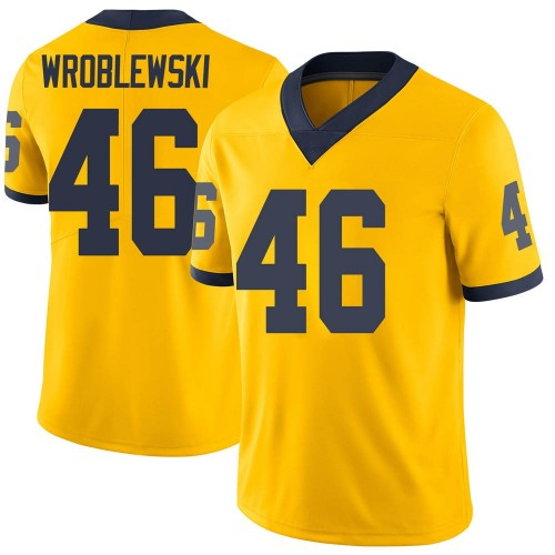 Youth Michael Wroblewski Michigan Wolverines Limited Brand Jordan Maize Football College Jersey