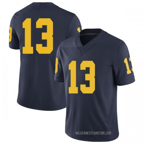 Youth Moritz Wagner Michigan Wolverines Limited Navy Brand Jordan Football College Jersey