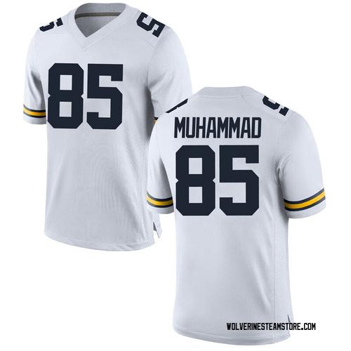 Youth Mustapha Muhammad Michigan Wolverines Game White Brand Jordan Football College Jersey