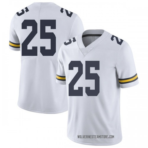 Youth Naji Ozeir Michigan Wolverines Limited White Brand Jordan Football College Jersey