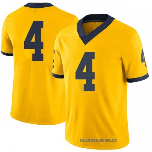 Youth Nico Collins Michigan Wolverines Limited Brand Jordan Maize Football College Jersey