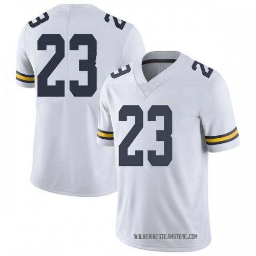 Youth Omaury Samuels Michigan Wolverines Limited White Brand Jordan Football College Jersey