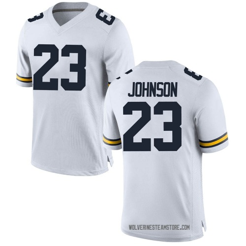Youth Quinten Johnson Michigan Wolverines Game White Brand Jordan Football College Jersey