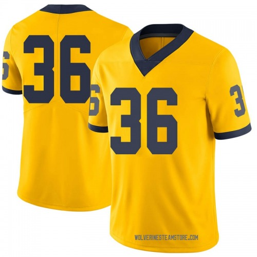 Youth Ramsey Baty Michigan Wolverines Limited Brand Jordan Maize Football College Jersey