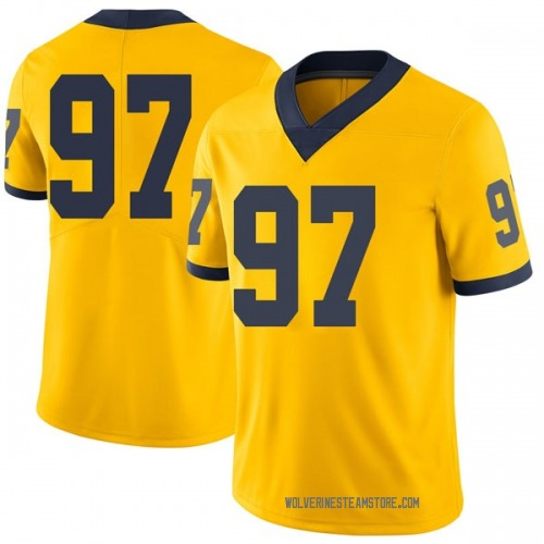 Youth Ron Johnson Michigan Wolverines Limited Brand Jordan Maize Football College Jersey