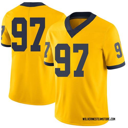 Youth Ron Johnson Michigan Wolverines Limited Brand Jordan Maize Football College Jersey