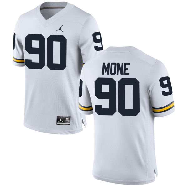 Men's Bryan Mone Michigan Wolverines Replica White Brand Jordan Football Jersey