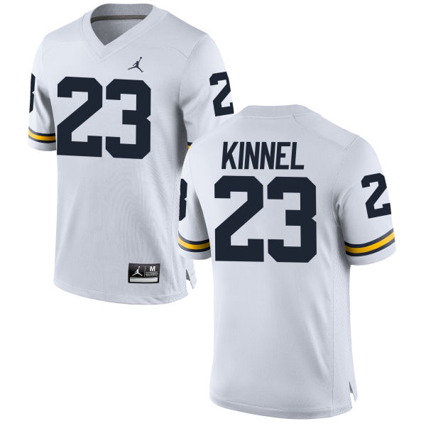 Men's Tyree Kinnel Michigan Wolverines Replica White Brand Jordan Football Jersey